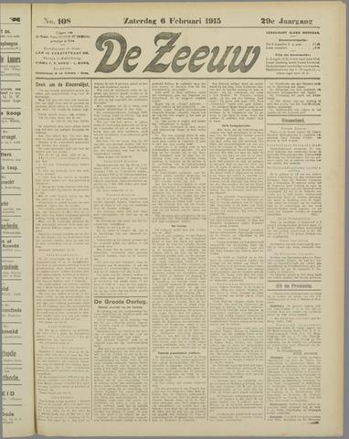 De Zeeuw. Christelijk-historisch nieuwsblad voor Zeeland 1915-02-06