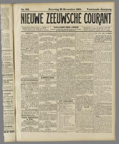Nieuwe Zeeuwsche Courant 1918-12-21