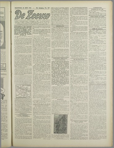 De Zeeuw. Christelijk-historisch nieuwsblad voor Zeeland 1944-06-26