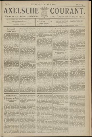 Axelsche Courant 1925-03-03