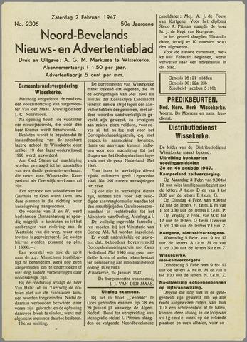 Noord-Bevelands Nieuws- en advertentieblad 1947-02-02