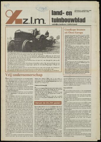Zeeuwsch landbouwblad ... ZLM land- en tuinbouwblad 1981-08-21