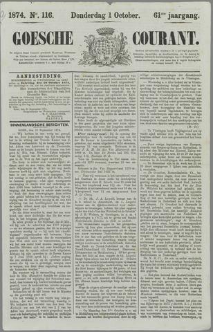 Goessche Courant 1874-10-01
