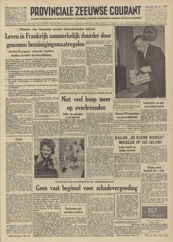 Provinciale Zeeuwse Courant 1958-12-30
