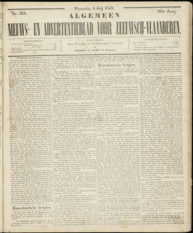 Ter Neuzensche Courant. Algemeen Nieuws- en Advertentieblad voor Zeeuwsch-Vlaanderen / Neuzensche Courant ... (idem) / (Algemeen) nieuws en advertentieblad voor Zeeuwsch-Vlaanderen 1870-07-06