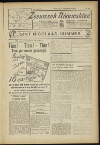 Zeeuwsch Nieuwsblad/Wegeling's Nieuwsblad 1935-11-22