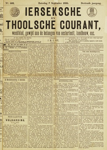 Ierseksche en Thoolsche Courant 1895-09-07
