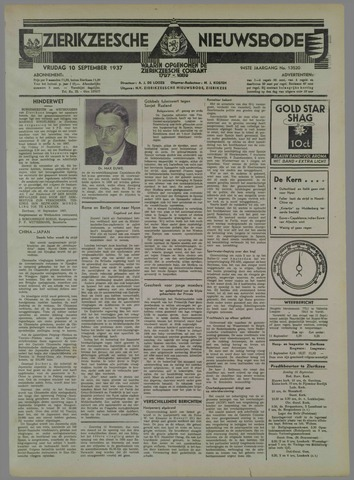 Zierikzeesche Nieuwsbode 1937-09-10