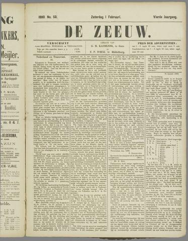De Zeeuw. Christelijk-historisch nieuwsblad voor Zeeland 1890-02-01