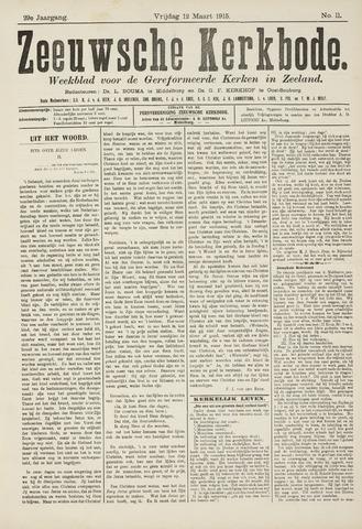 Zeeuwsche kerkbode, weekblad gewijd aan de belangen der gereformeerde kerken/ Zeeuwsch kerkblad 1915-03-12