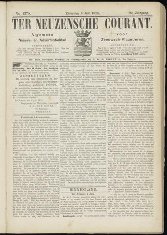 Ter Neuzensche Courant. Algemeen Nieuws- en Advertentieblad voor Zeeuwsch-Vlaanderen / Neuzensche Courant ... (idem) / (Algemeen) nieuws en advertentieblad voor Zeeuwsch-Vlaanderen 1878-07-06