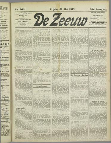 De Zeeuw. Christelijk-historisch nieuwsblad voor Zeeland 1918-05-31