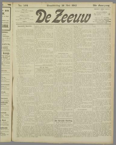 De Zeeuw. Christelijk-historisch nieuwsblad voor Zeeland 1917-05-31