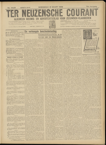Ter Neuzensche Courant. Algemeen Nieuws- en Advertentieblad voor Zeeuwsch-Vlaanderen / Neuzensche Courant ... (idem) / (Algemeen) nieuws en advertentieblad voor Zeeuwsch-Vlaanderen 1936-03-18