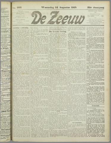 De Zeeuw. Christelijk-historisch nieuwsblad voor Zeeland 1918-08-14