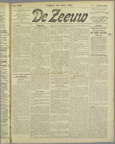 De Zeeuw. Christelijk-historisch nieuwsblad voor Zeeland 1920-07-23