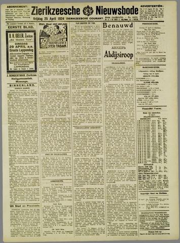 Zierikzeesche Nieuwsbode 1924-04-25
