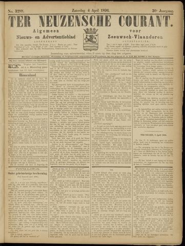Ter Neuzensche Courant. Algemeen Nieuws- en Advertentieblad voor Zeeuwsch-Vlaanderen / Neuzensche Courant ... (idem) / (Algemeen) nieuws en advertentieblad voor Zeeuwsch-Vlaanderen 1896-04-04