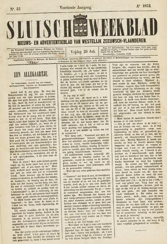 Sluisch Weekblad. Nieuws- en advertentieblad voor Westelijk Zeeuwsch-Vlaanderen 1873-07-25