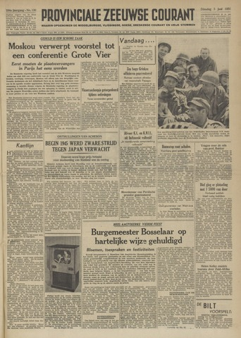 Provinciale Zeeuwse Courant 1951-06-05
