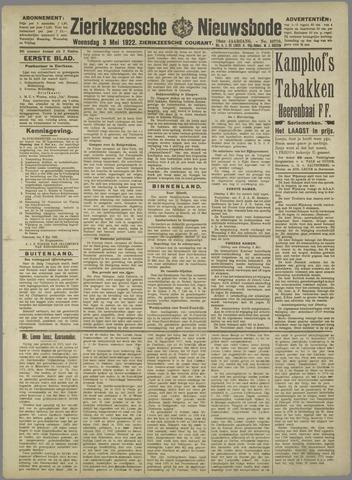 Zierikzeesche Nieuwsbode 1922-05-03
