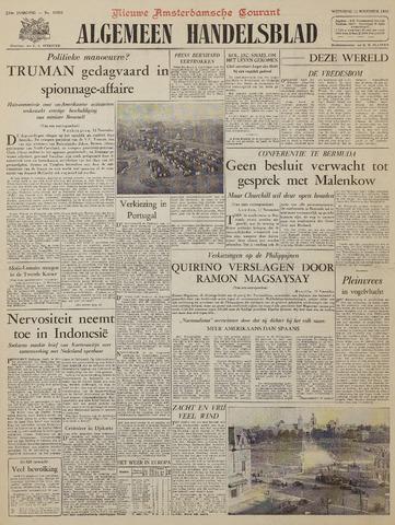 Watersnood documentatie 1953 - kranten 1953-11-11