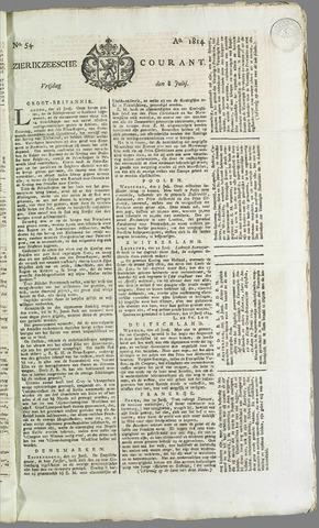 Zierikzeesche Courant 1814-07-08