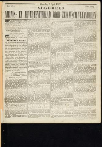 Ter Neuzensche Courant. Algemeen Nieuws- en Advertentieblad voor Zeeuwsch-Vlaanderen / Neuzensche Courant ... (idem) / (Algemeen) nieuws en advertentieblad voor Zeeuwsch-Vlaanderen 1872-04-06