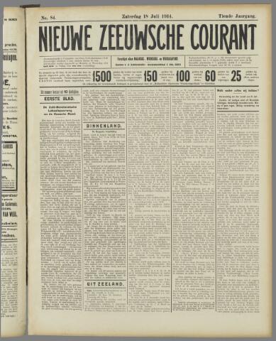 Nieuwe Zeeuwsche Courant 1914-07-18