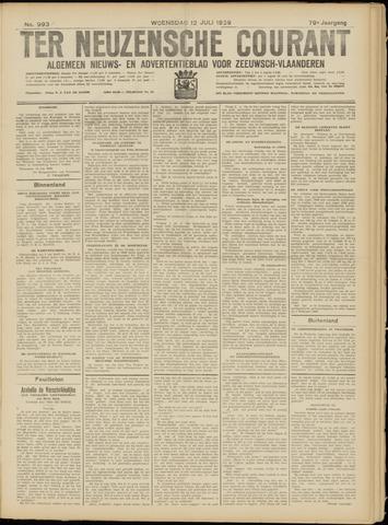 Ter Neuzensche Courant. Algemeen Nieuws- en Advertentieblad voor Zeeuwsch-Vlaanderen / Neuzensche Courant ... (idem) / (Algemeen) nieuws en advertentieblad voor Zeeuwsch-Vlaanderen 1939-07-12