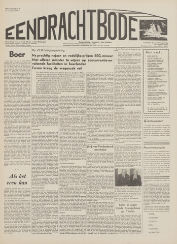 Eendrachtbode (1945-heden)/Mededeelingenblad voor het eiland Tholen (1944/45) 1969-11-27