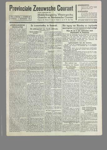 Provinciale Zeeuwse Courant 1940-09-07