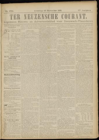Ter Neuzensche Courant. Algemeen Nieuws- en Advertentieblad voor Zeeuwsch-Vlaanderen / Neuzensche Courant ... (idem) / (Algemeen) nieuws en advertentieblad voor Zeeuwsch-Vlaanderen 1918-11-23