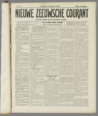Nieuwe Zeeuwsche Courant 1909-01-19