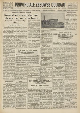 Provinciale Zeeuwse Courant 1951-06-25