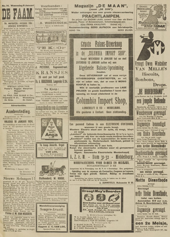 de Faam en de Faam/de Vlissinger 1924-01-09