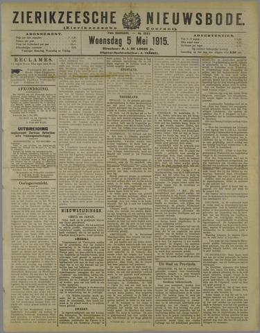 Zierikzeesche Nieuwsbode 1915-05-05