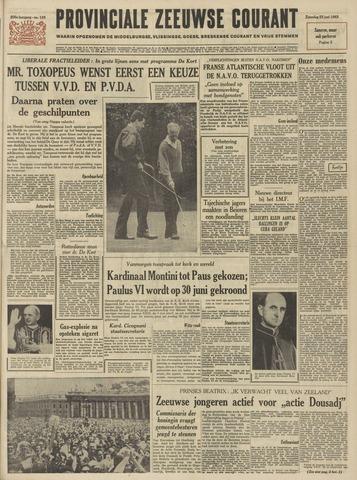 Provinciale Zeeuwse Courant 1963-06-22