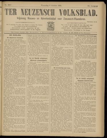 Ter Neuzensch Volksblad. Vrijzinnig nieuws- en advertentieblad voor Zeeuwsch- Vlaanderen / Zeeuwsch Nieuwsblad. Nieuws- en advertentieblad voor Zeeland 1915-10-06