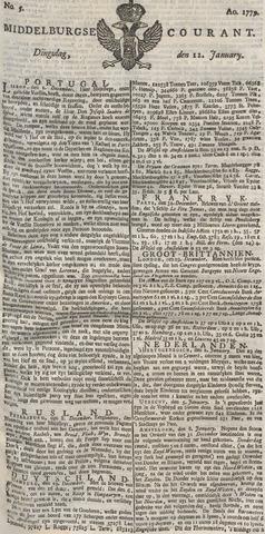 Middelburgsche Courant 1779-01-12