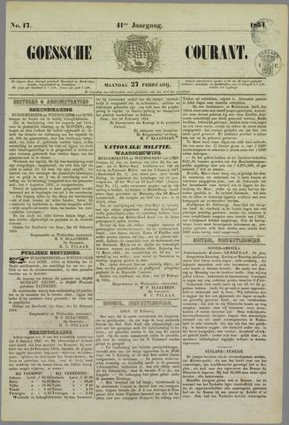 Goessche Courant 1854-02-27