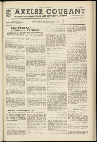 Axelsche Courant 1965-09-11