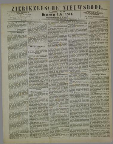 Zierikzeesche Nieuwsbode 1893-07-06