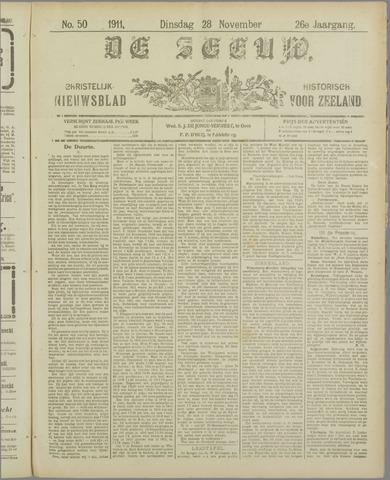 De Zeeuw. Christelijk-historisch nieuwsblad voor Zeeland 1911-11-28