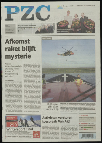 Provinciale Zeeuwse Courant 2014-11-10