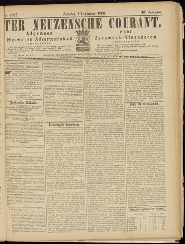 Ter Neuzensche Courant. Algemeen Nieuws- en Advertentieblad voor Zeeuwsch-Vlaanderen / Neuzensche Courant ... (idem) / (Algemeen) nieuws en advertentieblad voor Zeeuwsch-Vlaanderen 1906-12-01