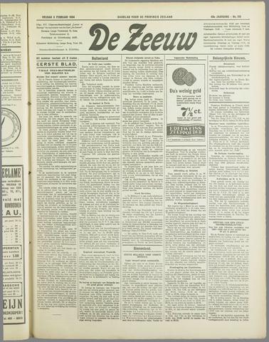 De Zeeuw. Christelijk-historisch nieuwsblad voor Zeeland 1934-02-09