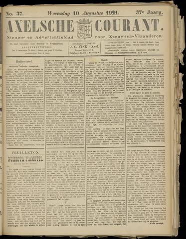 Axelsche Courant 1921-08-10