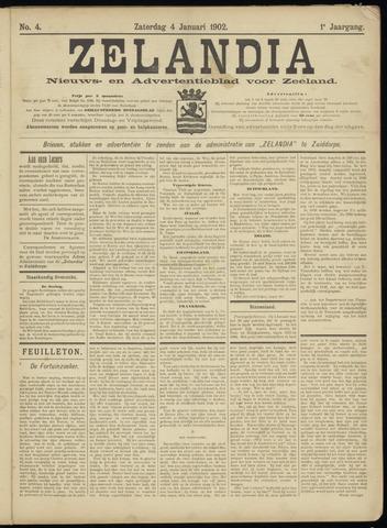 Zelandia. Nieuws-en advertentieblad voor Zeeland | edities: Het Land van Hulst en De Vier Ambachten 1902-01-04