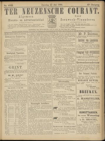 Ter Neuzensche Courant. Algemeen Nieuws- en Advertentieblad voor Zeeuwsch-Vlaanderen / Neuzensche Courant ... (idem) / (Algemeen) nieuws en advertentieblad voor Zeeuwsch-Vlaanderen 1901-07-27